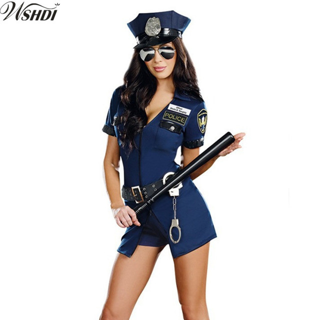 Hot Blue Sexy Policewomen Halloween Costumes Cop Police Officer Costume Cosplay Police Fancy Dress  sc 1 st  AliExpress.com & Hot Blue Sexy Policewomen Halloween Costumes Cop Police Officer ...
