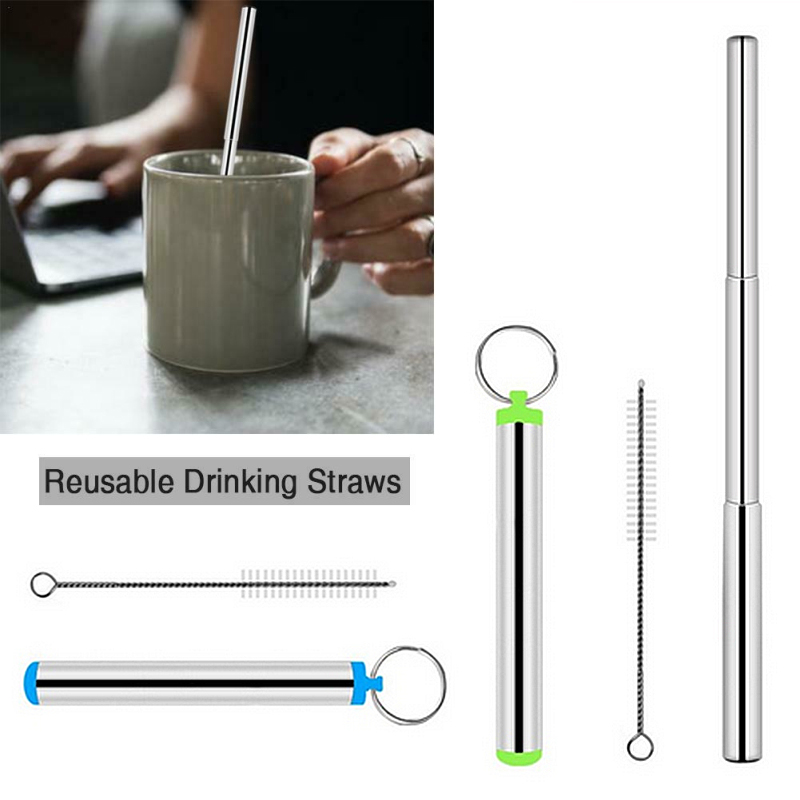 Reusable Extra Wide 9mm Drinking Metal Straws for HOOMEE Stainless Steel Straws