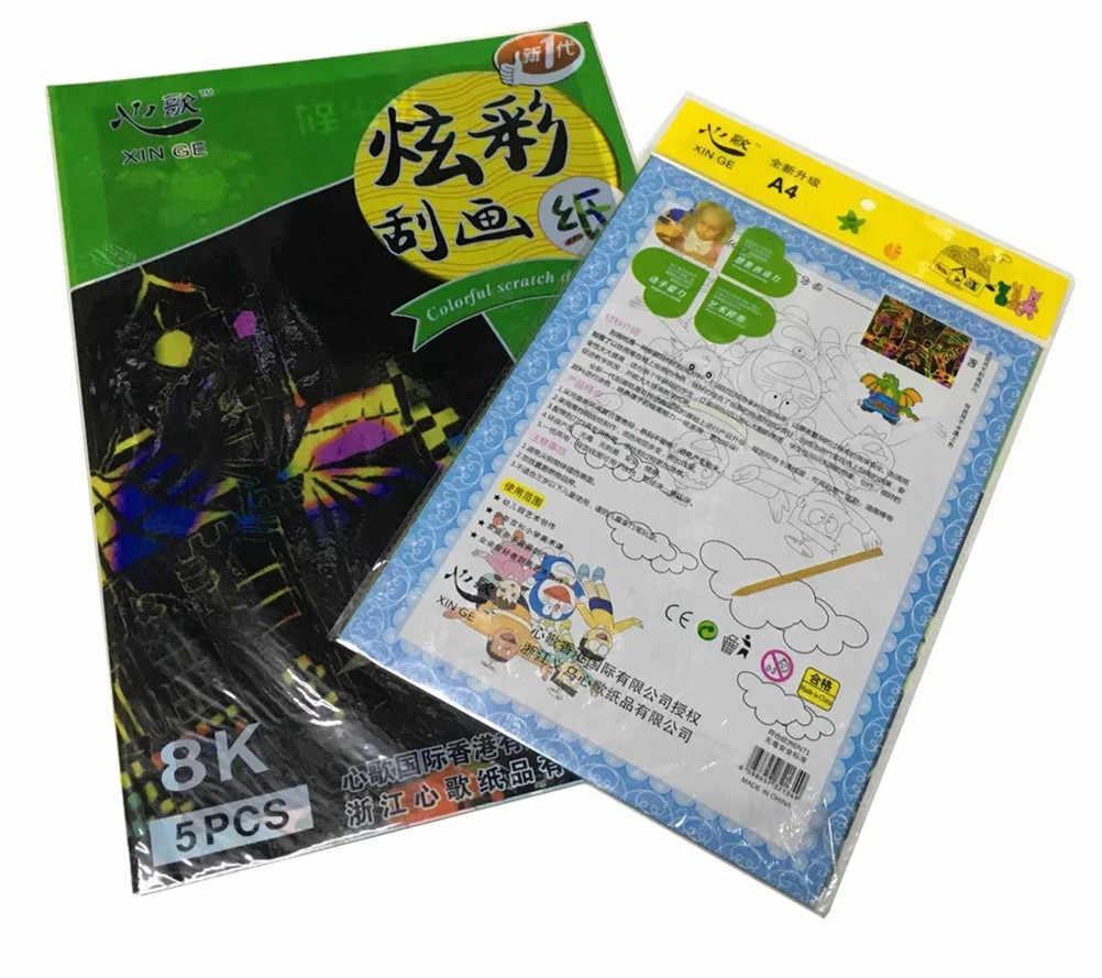 10 Foglio 16 K Scratch Colorful Art Magia Disegno Toys Pittura Carta Scherza il Regalo Del Giocattolo