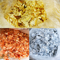 1kg Imitation Gold Leaf Flakes, Silver Leaf Flakes,Pure Copper Leaf Flakes, Fragment for Decoration, Three Colors for Optional