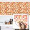 22x22x0 5cm 8 66x8 66x0 19 Inch Colorful Mosaic Square Pattern Wall Stickers Bathroom Kitchen Living