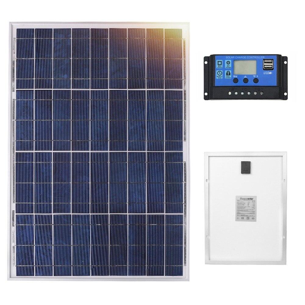 Anaka 12 V 40 W panneau solaire chine petite batterie solaire panneaux de silicium polycristallin Solares ensembles Kits panneaux extérieurs imperméables