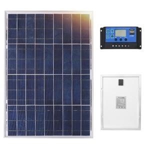 Image 1 - Anaka 12V 40W солнечная панель Китай Маленькая солнечная батарея поликристаллический кремниевые панели Solares наборы водонепроницаемые наружные панели