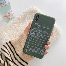 Arte vintage letra coreana funda para iPhone x XS Max XR 7 7 Puls 6S 7 8 Plus fundas de silicona suave Retro gris cubierta Capa Coque