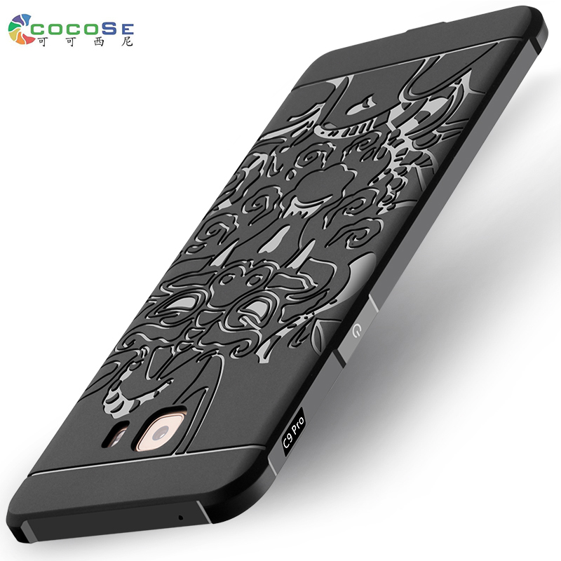 COCOSE For Samsung Galaxy c9 pro c9000 case silicon phone back cover matte 3D carved tpu coque full protective anti-knock 6.0''