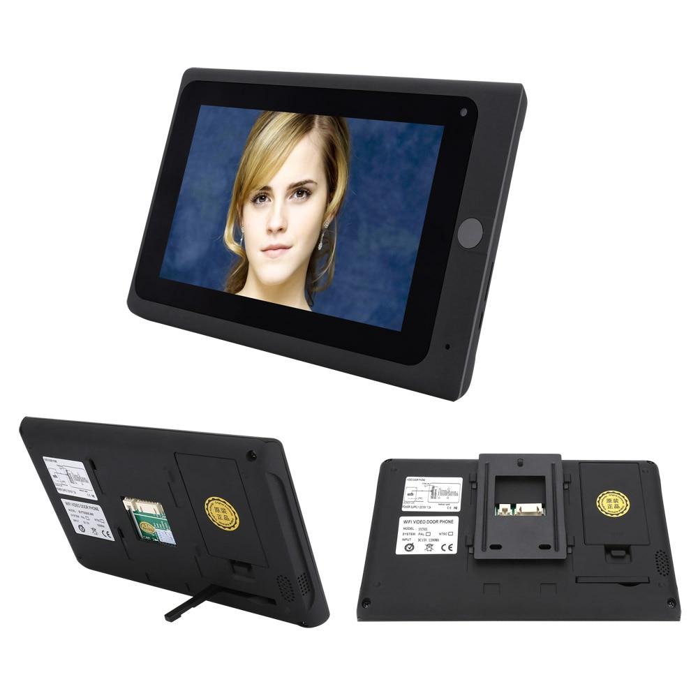 SmartYIBA APP Wifi Video Door Phone 7Monitor IR-CUT NightVision Camera ID Card Remote Unlock Visual Audio Video Door Intercom