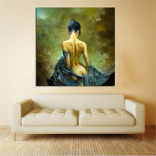 Printed Sexy Lady Angel Naked Body Girl Oil Painting on Canvas Wall Art Pictures for Living Room Home or Salon Decoration Gift