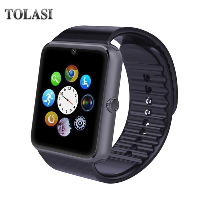 TOLASI Bluetooth Smart Watch GT08 For Apple iphone IOS Android Phone Wrist Wear Support Sync smart clock Sim Card PK DZ09 GV18 стоимость