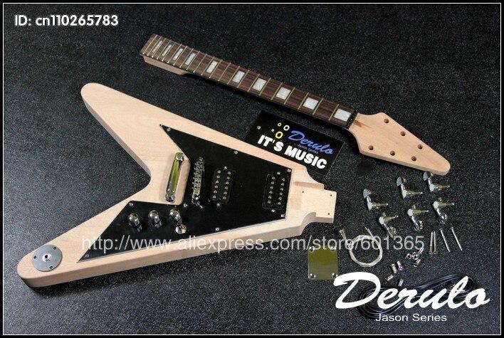 Kit de guitare électrique bricolage corps et cou en acajou massif MX027