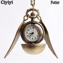 Get more info on the Harri Potter Snitch Pocket Watch Necklace Toy Children Cosplay Party Show Retro Watch Toys Halloween Kids Hogwarts School Jouet