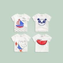 Children's T-shirt round neck compassionate 2016 summer children's clothing baby boys summer short-sleeve shirt blouse tide