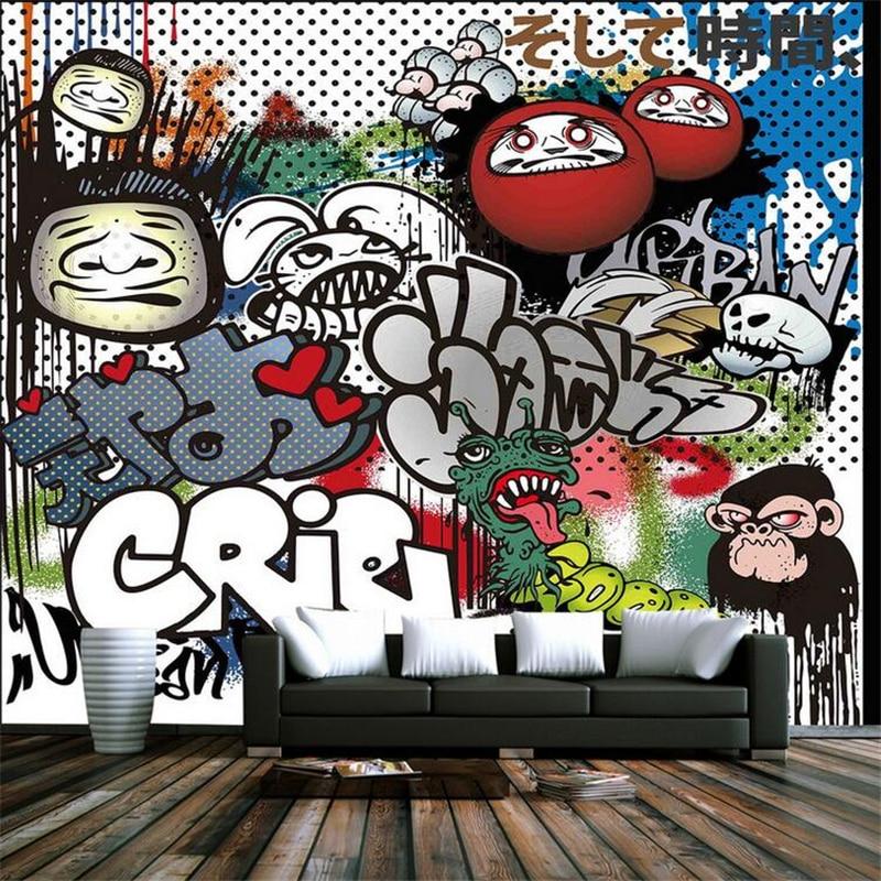Custom Brick Wallpaper 3d Graffiti Vintage 3d Wall Murals Non-Woven Embossed Wall Paper TV Background Study Bedroom Kitchen лента кружева купить в одессе