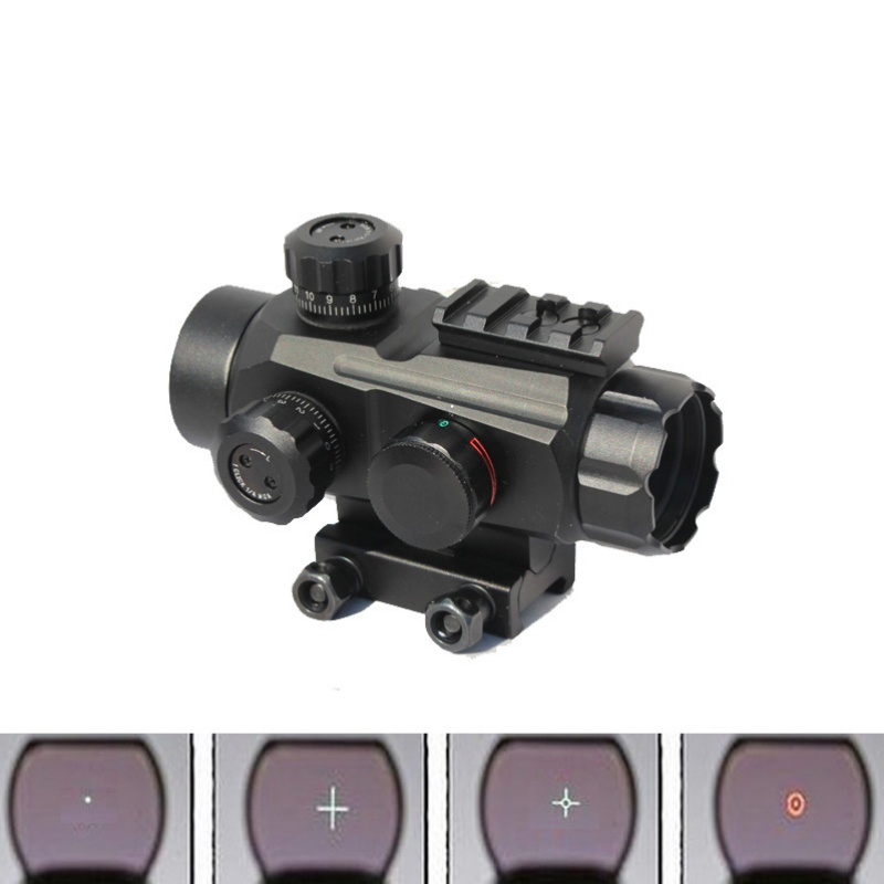 ФОТО New Tactical Optical Multi Coated 1x35mm Red and Green Dot Scope Sight  7/8