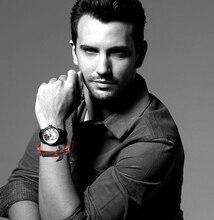 Black Axe Multilayer Leather Bracelet