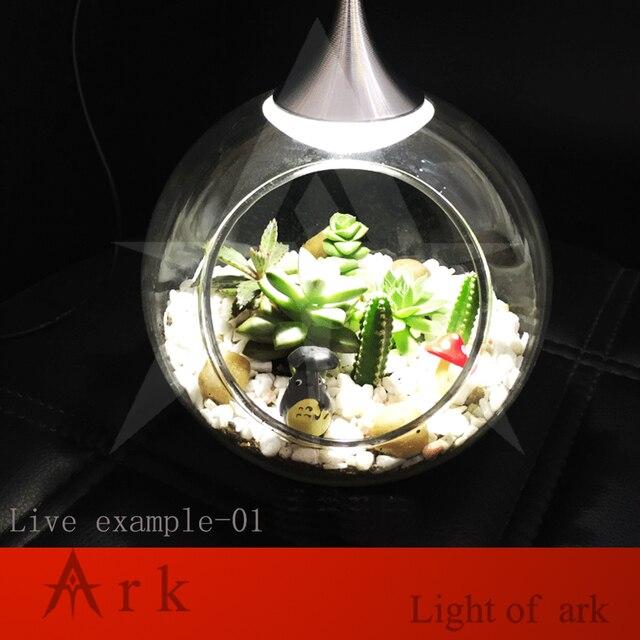 Ark Light Diy Decoration Miniature Glass Pot Led Table Lamp Fairy