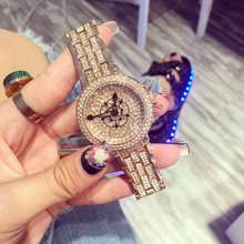 Luxury Fashion Ladies font b Women b font Wristwatch Pointer Rhinostone Sparkling Shining Quartz font b
