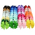 40pcs/lot 40 Colors Baby Girl Ribbon Bows Clips Hairpin Girl's hairbows Boutique Hair Clip Headware Kids Hair Accessories