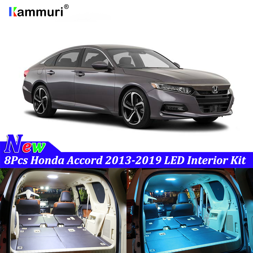 8pcs canbus no errore white interior led light package kit - 2015 honda accord interior illumination ...