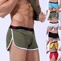 Verano de Los Hombres del Ocio Ocasional Pantalones Cortos de Cintura Cortos Pantalones de la manera del Hilado Neto de la Aptitud Cómoda Homewear shorts Boxer