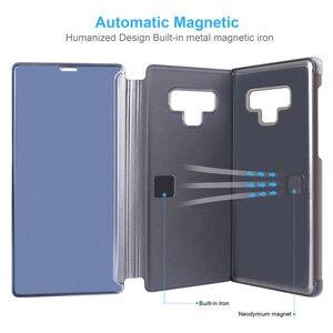Image 4 - مرآة الرؤية الذكية الوجه الحال بالنسبة لسامسونج غالاكسي نوت 9 8 S9 S8 زائد الجلود الهاتف الحال بالنسبة لسامسونج S7 S6 حافة S10 حقيبة الهاتف Funda