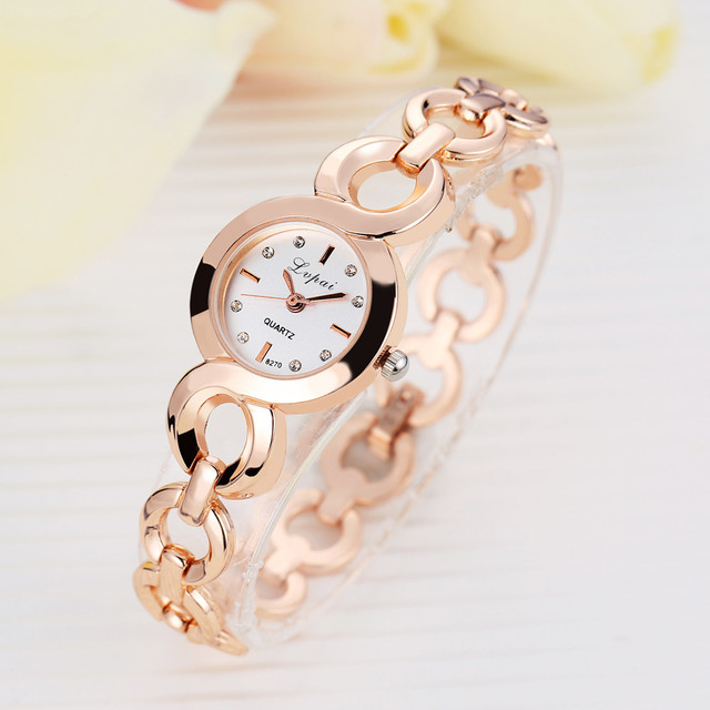 Brand Rose Gold Luxury Women Dress Watches Girls Quartz Watch Bracelet Watch Lad