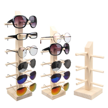 Professional Multi-Size Wood Sunglass Display Rack Shelf Eyeglasses Show Stand Jewelry Holder for Multi Pairs Glasses Showcase