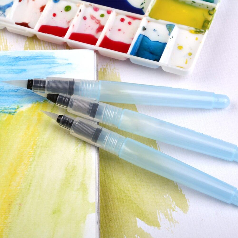 Cheap 3 Size Watercolor Calligraphy Brush Pen Sakura Superior Stabilo Pilot Paint Brush Lms Sakura Pentel Waterbrush Water Tank