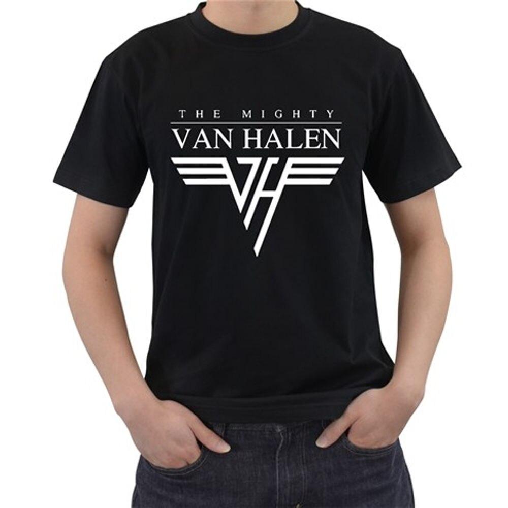 f169fbcfec70 2018 Fashion New The Mighty Van Halen Short Sleeve Black Men's T Shirt Size  S 2XL Men T Shirt Print Cotton Short Sleeve T shirt-in T-Shirts from Men's  ...