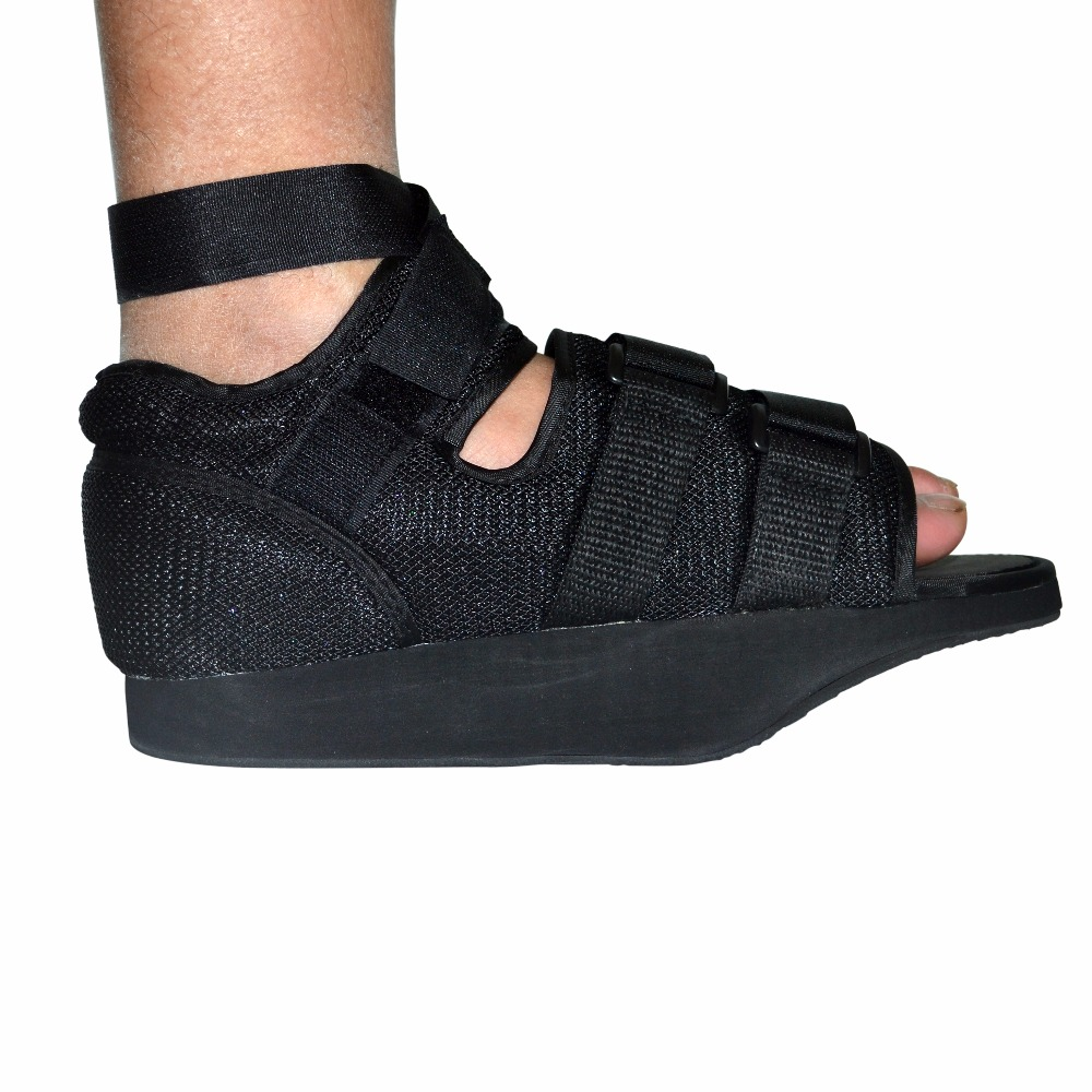 Adjustable Walker Boot Post-Op Shoe With Air Walking Cast Mesh Medical Orthopedic Shoe Black Sing One For Foot Health Care orthopedic hinged rom adjustable sports knee brace support splint stabilizer wrap sprain post op hemiplegia flexion extension