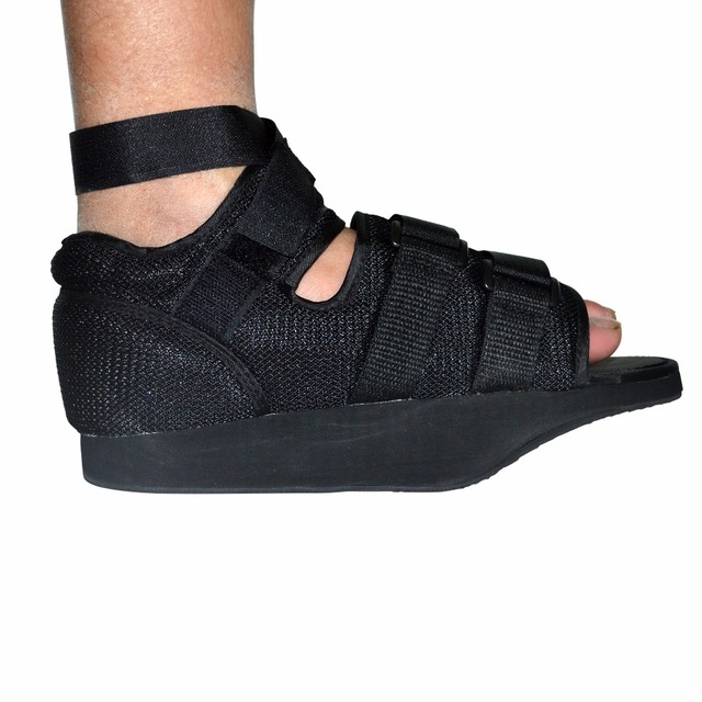 Adjustable Walker Boot Post-Op Shoe With Air Walking Cast Mesh Medical Orthopedic Shoe Black Sing One For Foot Health Care