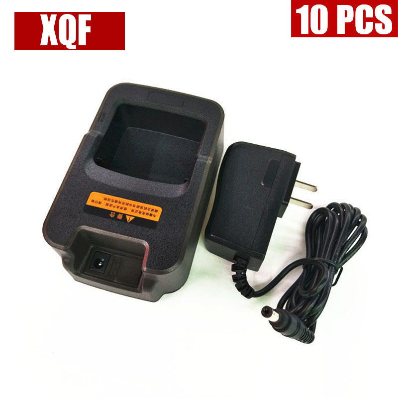 XQF 10PCS  Charger For HYT PD780 PT580H PD880T PD700 Two Way Radio CH10A04
