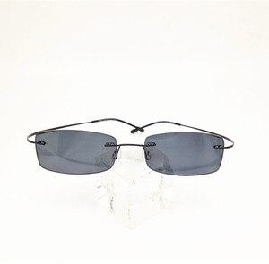 Image 3 - Eyesilove wykończone bez oprawek okulary na krótkowzroczność ultralekkie bezramowe gotowe okulary dla krótkowidzów krótkowzroczność okulary szary kolor