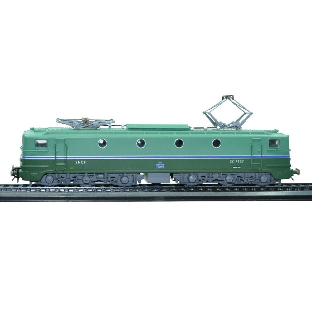 1 87 Atlas Serie CC 7107 1952 Collectible tram Diecast Plastic Antique model for collect or
