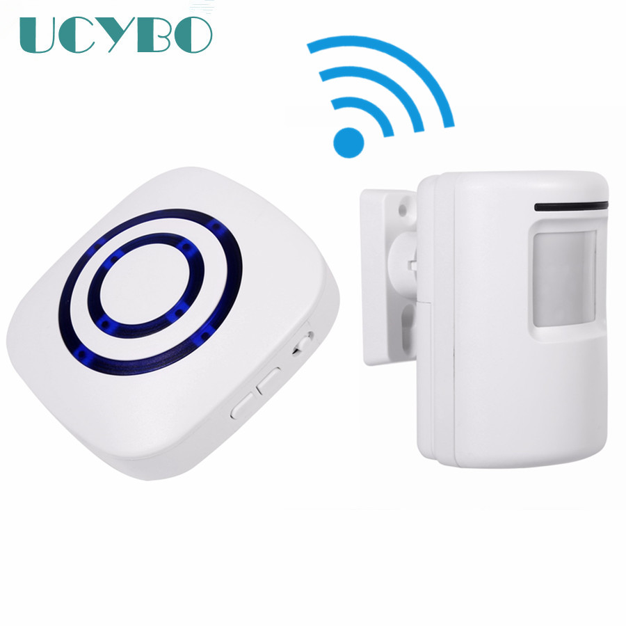 Smart home Wireless Cordless Doorbell Chime W/ PIR Motion Sensor Mini wifi Door Bell Security Alarm System For Apartment 8 Tunes kinetic cordless smart home doorbell 2 button and 1 chime battery free button waterproof eu us uk wireless door bell