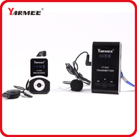 195MHz 230MHz wireless audio tour guide system support 99 channels (2 transmitters+60 receivers+charger case)