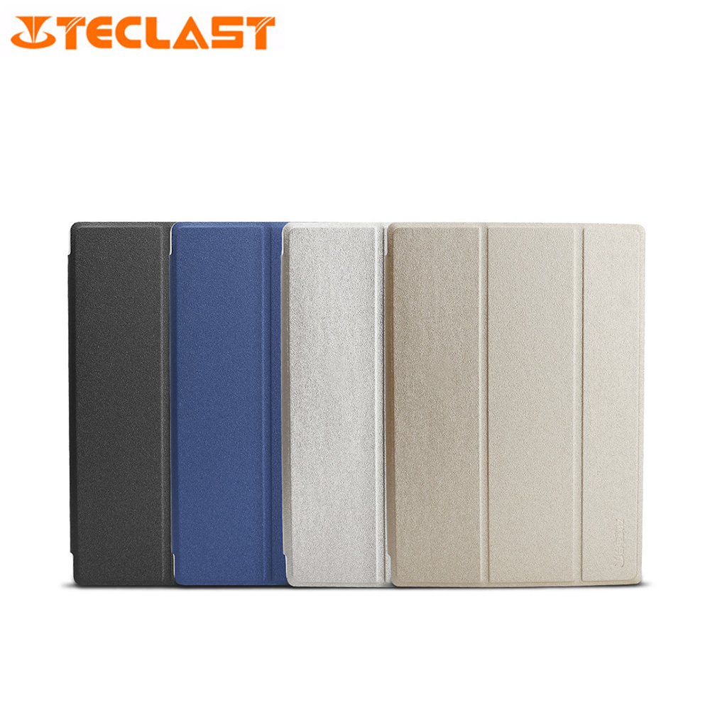 Slim-Fit Folio Case Cover With Back Case For Teclast T10 Stand Black White Blue Gold Colorful PU+PC Tablet Protective Case