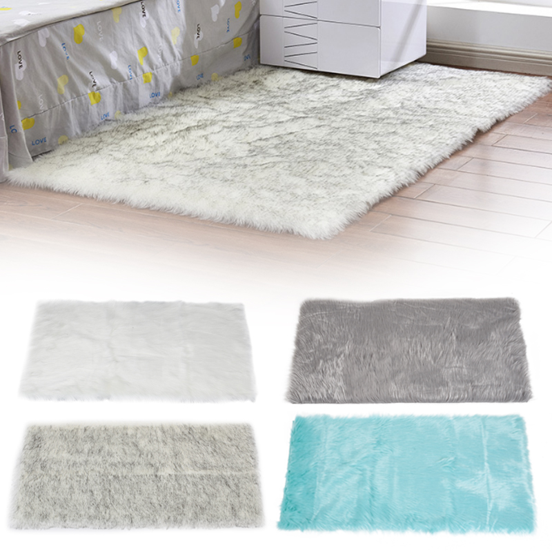 Sheepskin Rug Square: Artificial Wool Carpet High Quality Material Without Lint