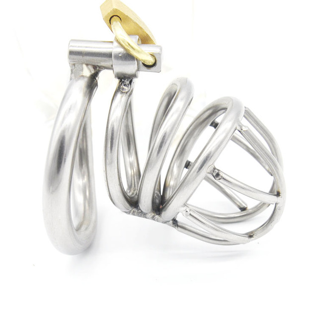 Stainless Steel Super Small Male Chastity Belt Adult Cock Cage With arc-shaped Cock Ring Sex Toys Bondage Chastity device