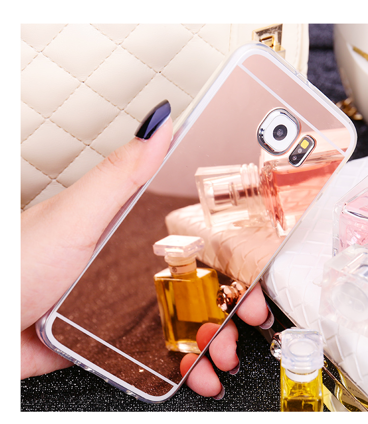 Luxury Mirror Soft TPU Back Cover Case For Samsung Galaxy S3 S4 S5 S6 S7 Edge Plus A310F A510F A5 A7 J5 J7 Note 3 4 5 Case Capa