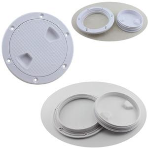 Image 1 - Cubierta de escotilla redonda de plástico para barco, cubierta de escotilla de plástico para barco marino RV, tornillo blanco, placa de inspección de cubierta