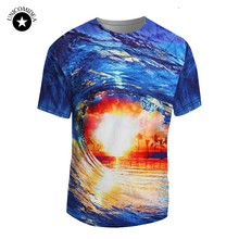 Summer Hawaiian T-shirts Casual 3d Printed Tee Tops Unisex Beach/Coconut Tree T Shrit Fashion 2018 Brand Clothing Streetwear(China)