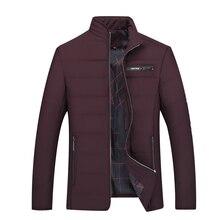 Plus la taille 8XL Hiver Hommes 2017 Coton Rembourre Chaud epaissir veste Courte manteau Vetements montant Male Solide Parkas