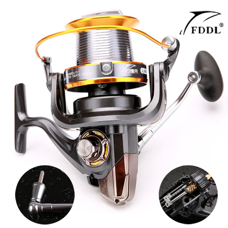Spinning Reel 9000 Full Metal Spool Jigging Trolling Long Shot Casting for Carp&Salt Water Surf Spinning Big Sea Fishing Reel yumoshi 10000 size metal spool jigging trolling long shot casting for carp and salt water surf spinning big sea fishing reel
