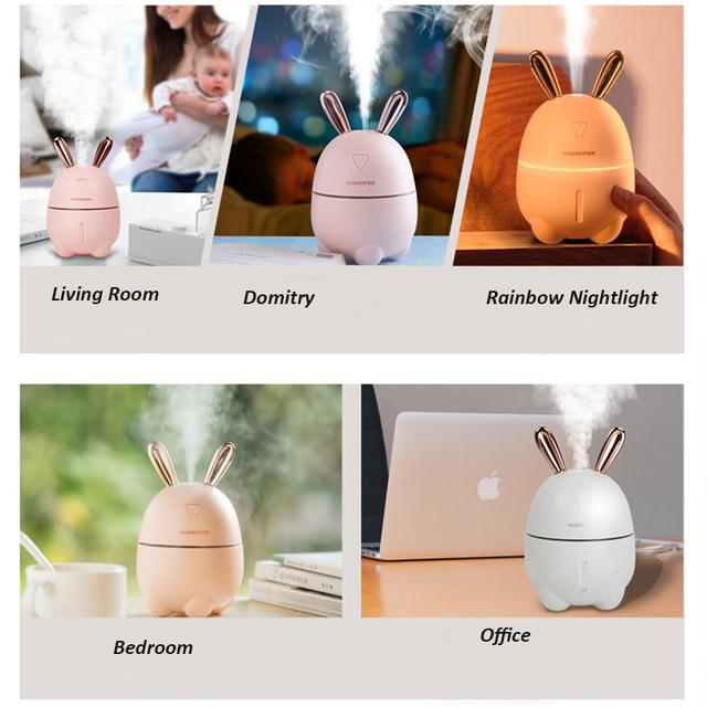 Cute Rabbit Ultra-Silent USB Air Humidifier 300 ml