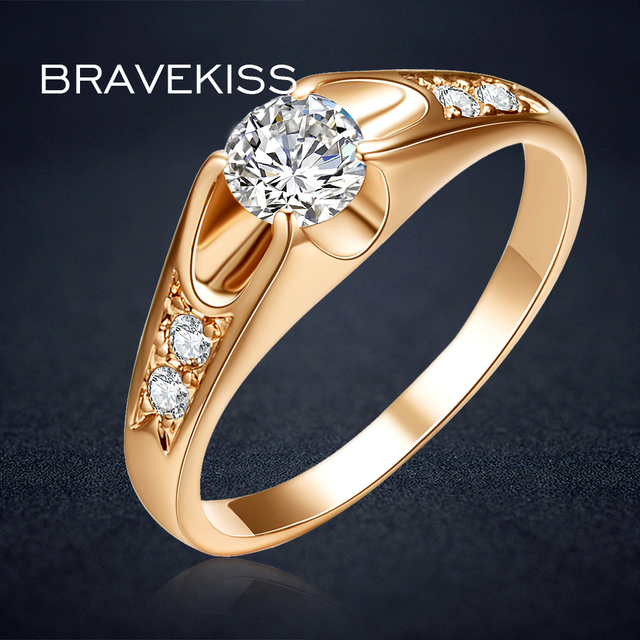 a929dc7e3af2c US $1.72 40% OFF|Aliexpress.com : Buy BRAVEKISS vintage wedding bands  solitaire rings for women accent cz stone engagement rings bague mujer moda  ...