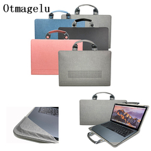 2019 New Laptop Case sleeve For Apple MacBook Pro Air Retina 13 15 laptop bag Multifunction Genuine Leather PU Notebook case