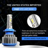 EURS Bleu Phare De Voiture H7 H4 LED H9 H8/H11 HB3/9005 HB4/9006 H1 H3 9012 H13 9004 9007 70 W 7000lm CSP Auto Ampoule Projecteur Lumière