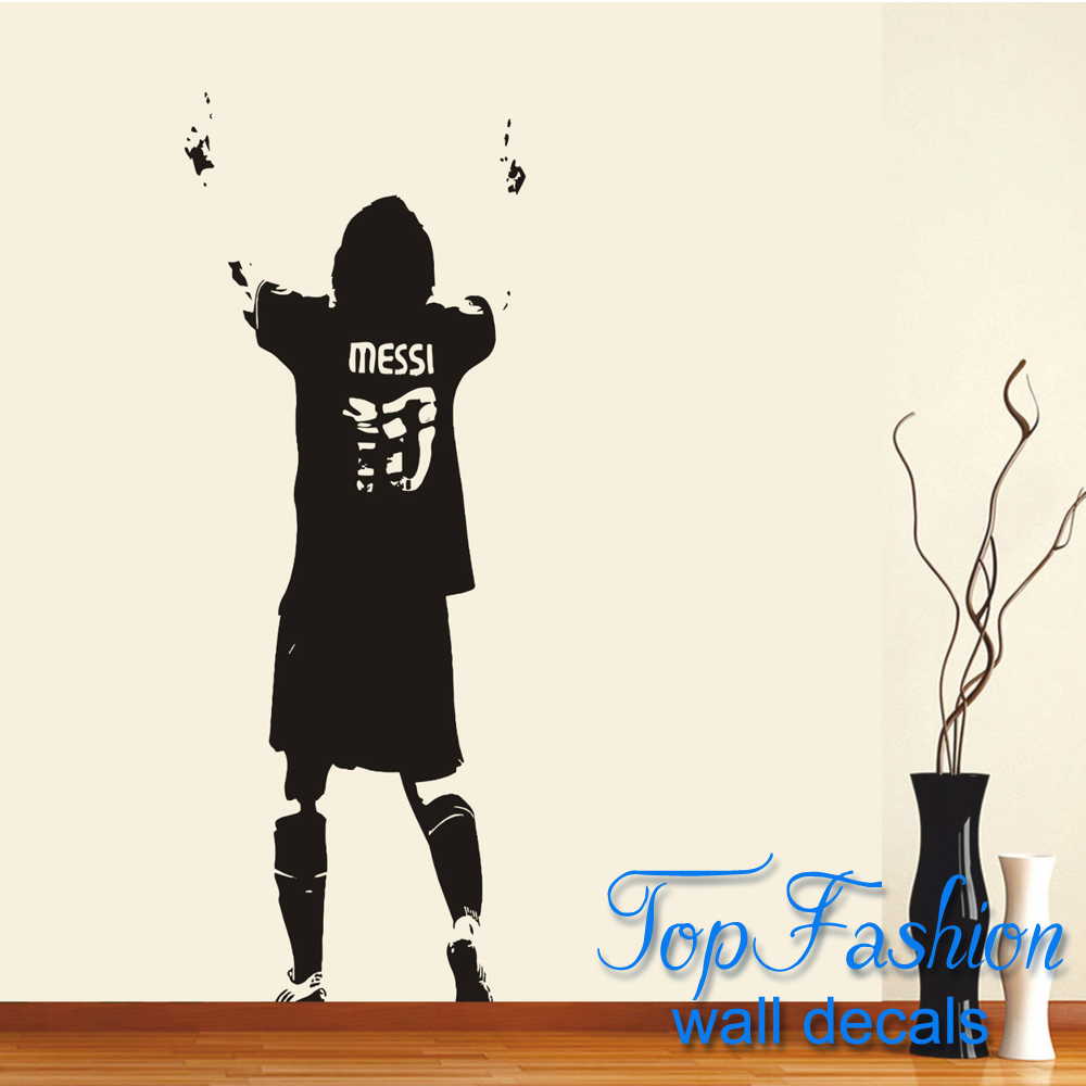 Large Lionel Messi Wall Art Sticker Decal Wallpaper Soccer Player Vinyl Wall  Art Decal Home Decoration 3 Sizes In Wall Stickers From Home U0026 Garden On ...