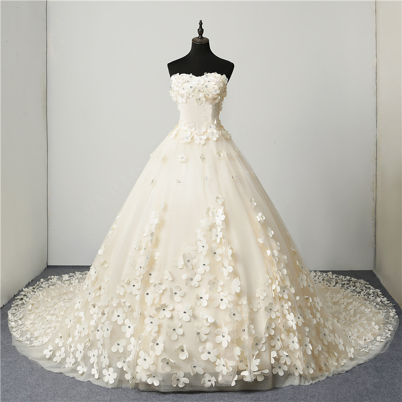 Detail Feedback Questions about Sweet Wedding dress 2018 new fashion ... 358afa48a318