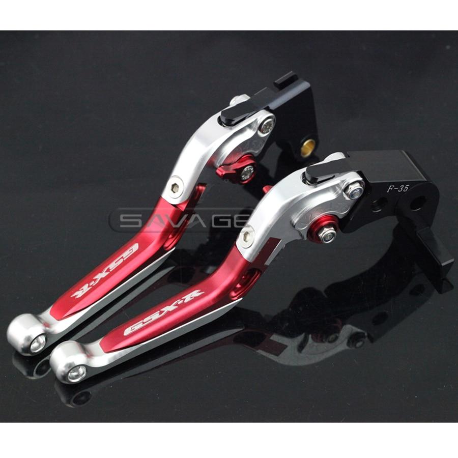 For SUZUKI GSXR 600/750 GSXR600 GSXR750 06-10, GSXR1000 05-06 Motorcycle Adjustable Folding Extendable Brake Clutch Lever Red+S adjustable billet short fold folding brake clutch levers for suzuki gsxr 600 750 1000 gsxr600 gsxr750 gsxr1000 05 06 07 08 09 10